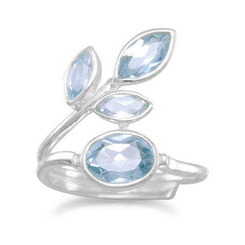 Multishape Blue Topaz Ring