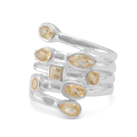 Multishape Citrine Ring