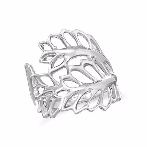 Cut Out Leaves Ring
