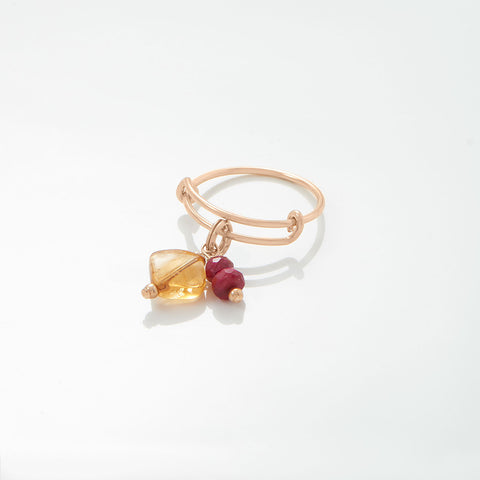 14/20 Gold Filled Citrine Charm - November Birthstone