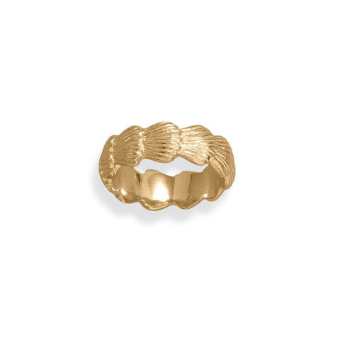 14 Karat Gold Plated Seashell Design Ring
