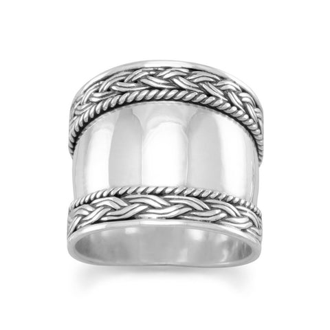 Bali Ring with Braided Edge