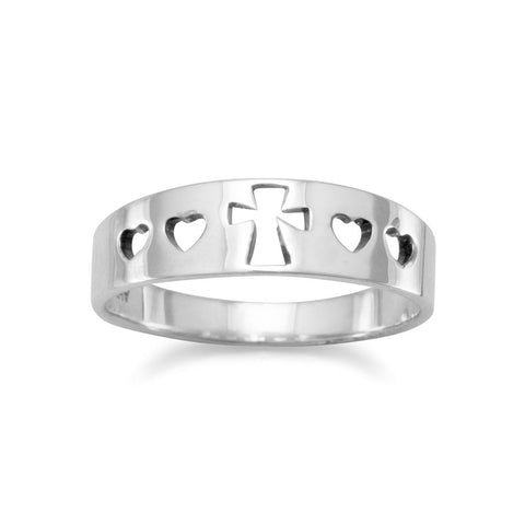 Cut Out Heart/Cross Ring
