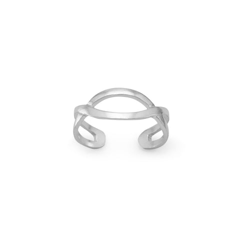 Criss Cross Design Toe Ring