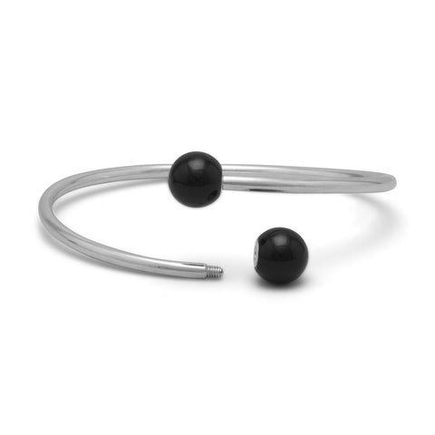 Bangle with Black Onyx Ends