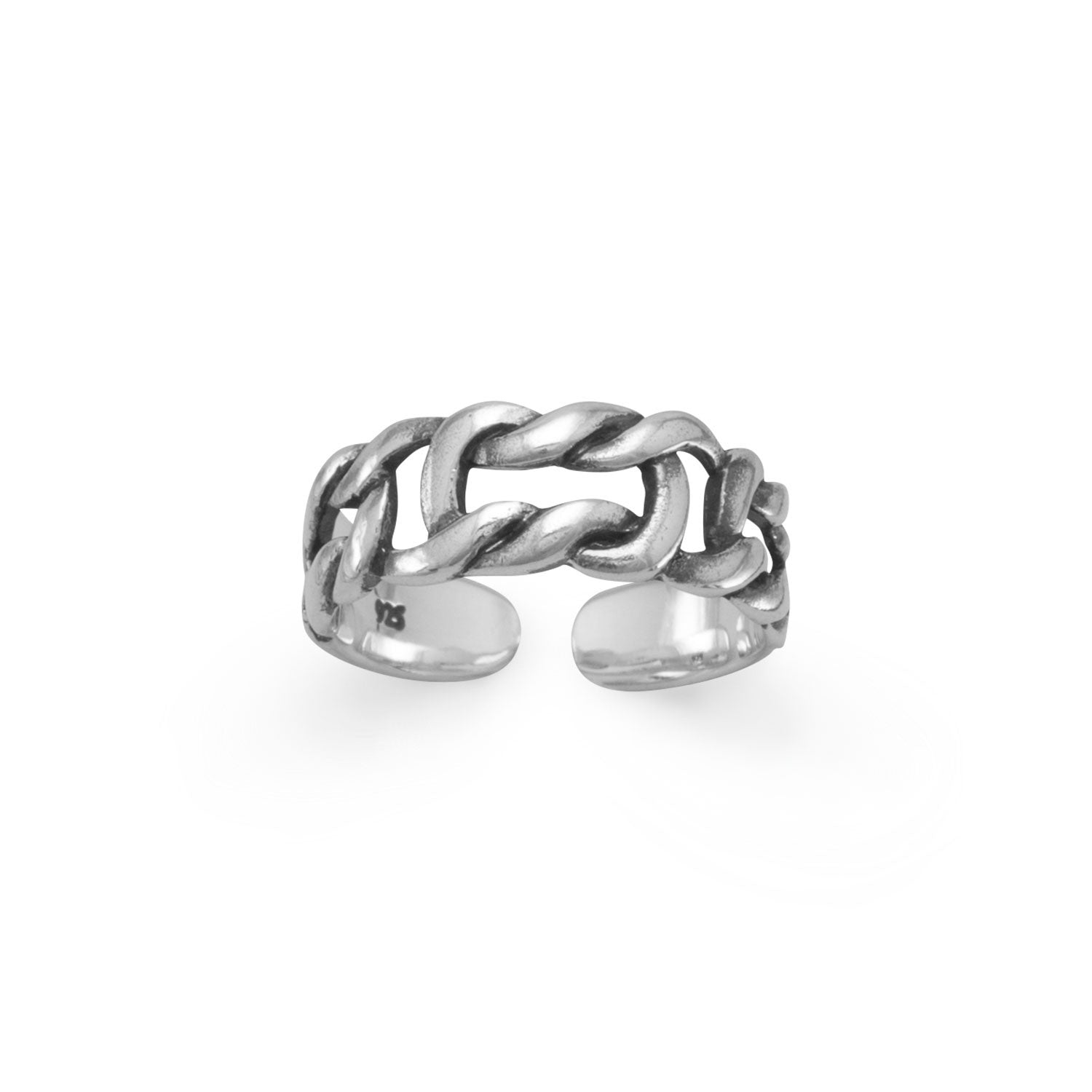 Oxidized Knot Design TOE RING