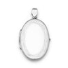 Flat Oval Etched Edge Locket