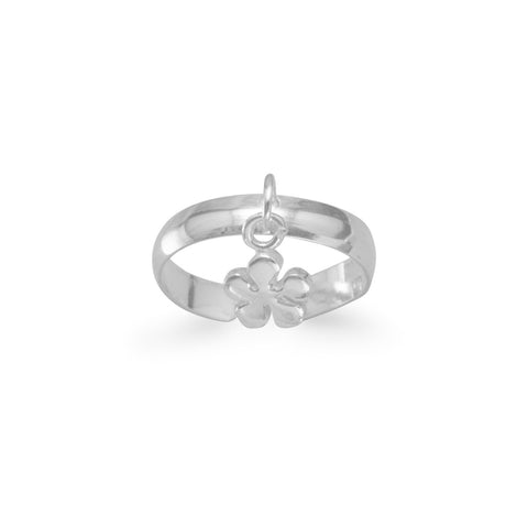 Toe Ring with Flower Charm