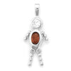 January Birthstone Boy Pendant