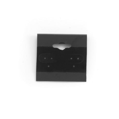 "1.5"" x 1.5"" Black Flocked Earring Cards (Package of 100)"