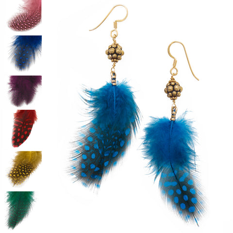 2 Pairs of Assorted Feather Fashion Earrings