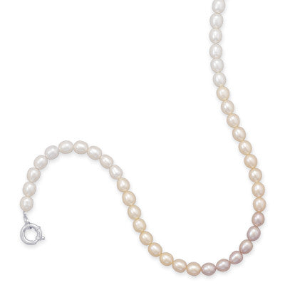 "17.5"" Cultured Freshwater Rice Pearl Necklace"