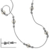 "36"" Rhodium Plated Brass and Imitation Pearl Fashion Necklace"