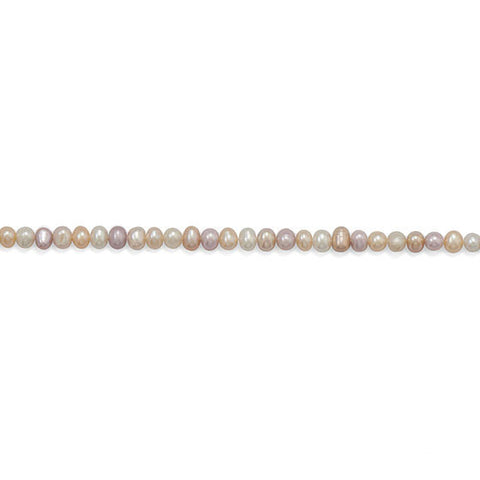 Strand of Multicolor Cultured Freshwater Potato Pearls