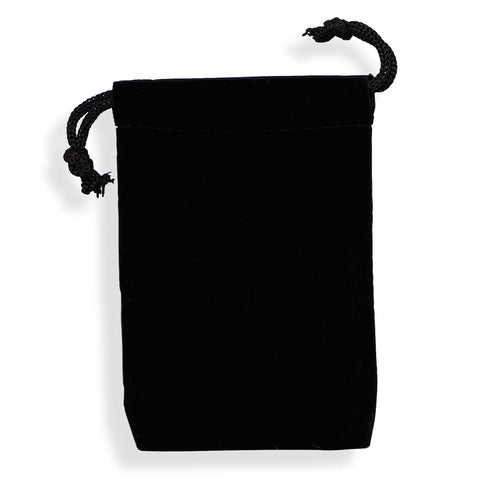 Medium Black Velvet Pouches (Set of 12)