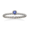 Dark Blue Glass Stackable September Birthstone Ring