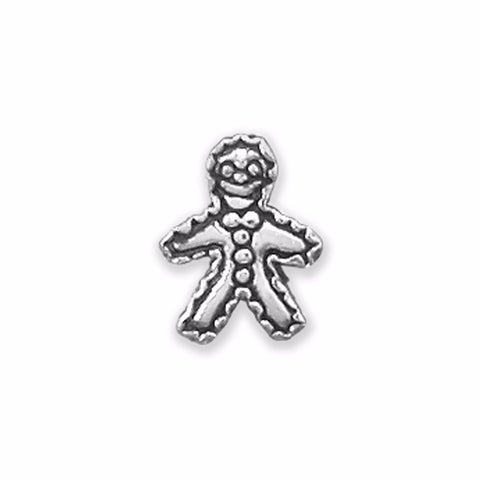 Oxidized Gingerbread Man Bead