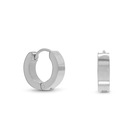 13.5mm x 3.5mm Stainless Steel Hoop Earrings