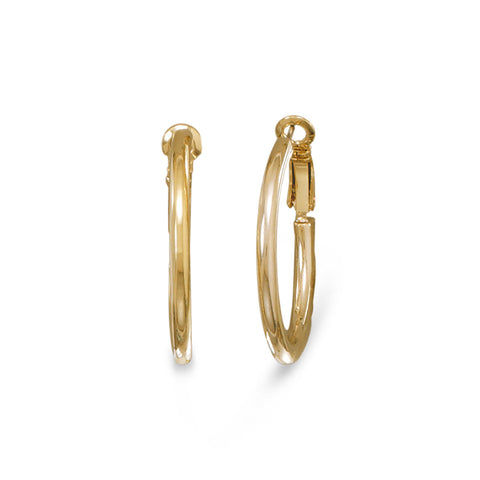 14 Karat Gold Plated Fashion Post Hoop Earrings