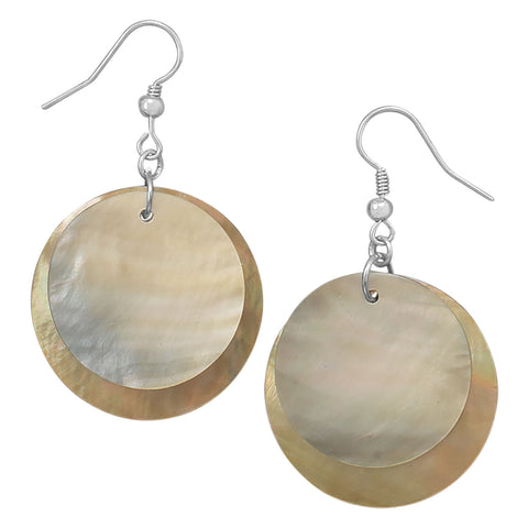 Double Shell Drop Fashion Earrings