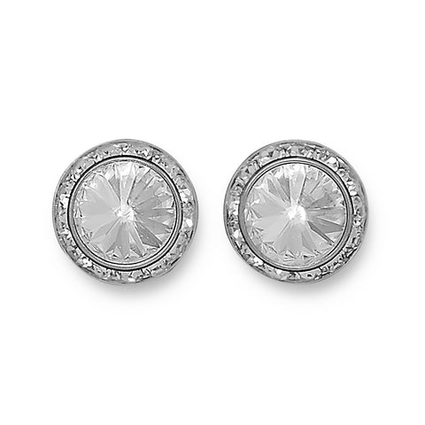 Crystal Button Fashion Post Earrings