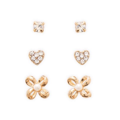 Classic Trio Heart Fashion Earrings