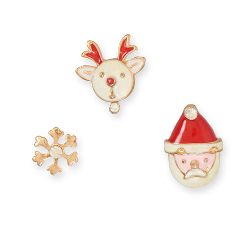 3 Piece Mismatch Holiday Fashion Earrings