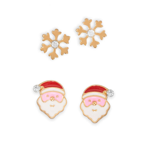 Set of 2 Holiday Fashion Earrings