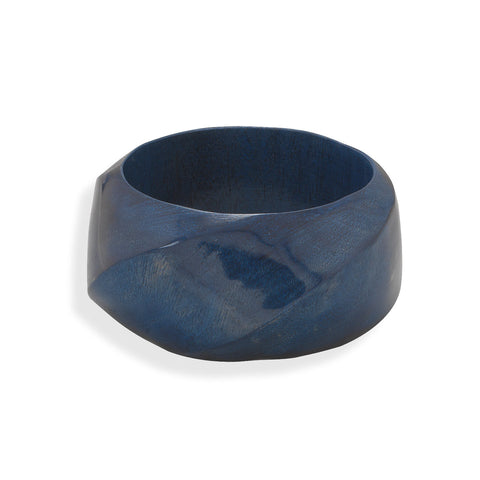Blue Wood Bangle
