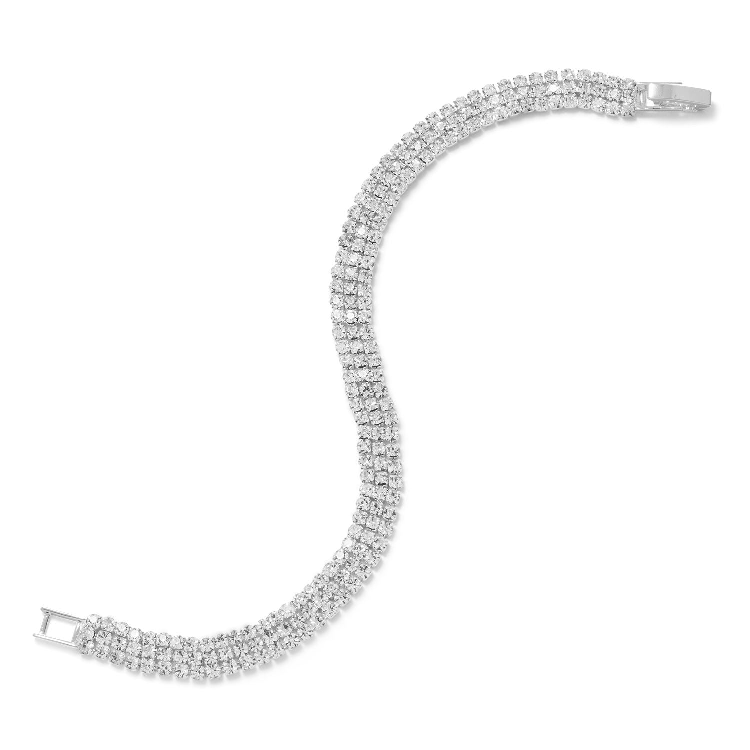 ''7'''' Three Row Crystal Fashion TENNIS BRACELET''