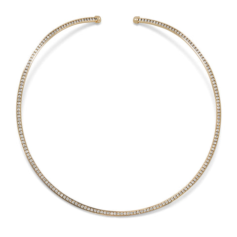 Gold Tone Crystal Fashion Flex Collar