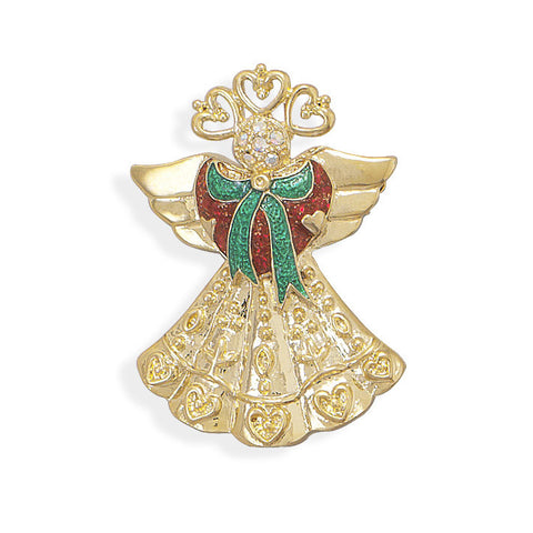 14 Karat Gold Plated Angel Fashion Pin