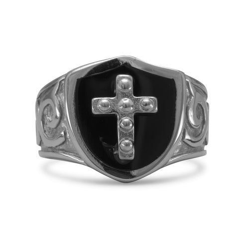 Stainless Steel Cross Design Ring