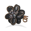 Bronze and Black Onyx Adjustable Fashion Ring