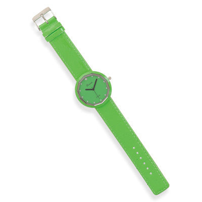 Green Leather Fashion Watch