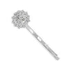 Silver Plated Fashion Bobby Pin with Crystal