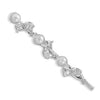 Silver Plated Fashion Bobby Pin with Pearl and Crystal Accents