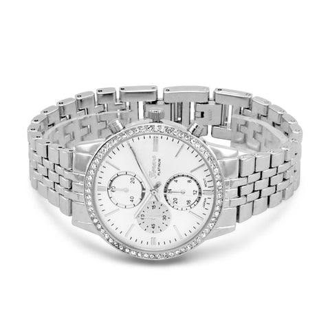 Silver Tone and Crystal Fashion Watch