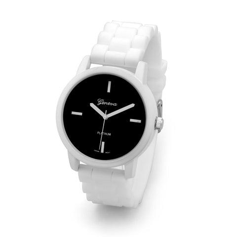 White Silicon Fashion Watch