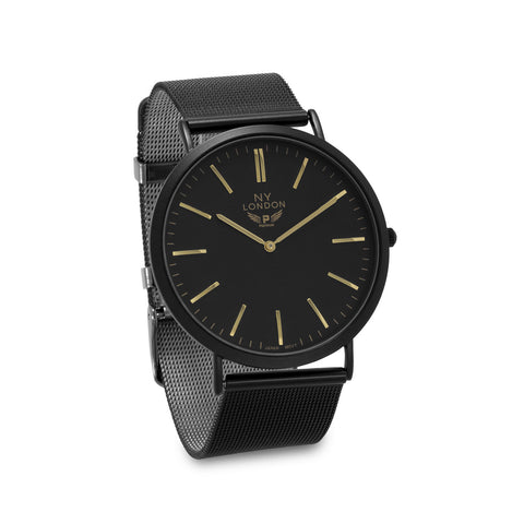Black Mesh Fashion Watch