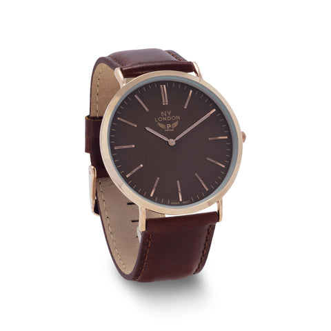 Brown Leather Men's Fashion Watch