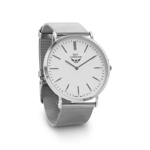 Silver Tone Mesh Fashion Watch