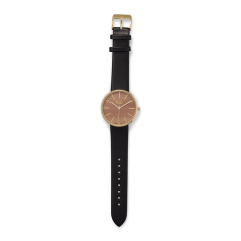 Black Leather Unisex Fashion Watch