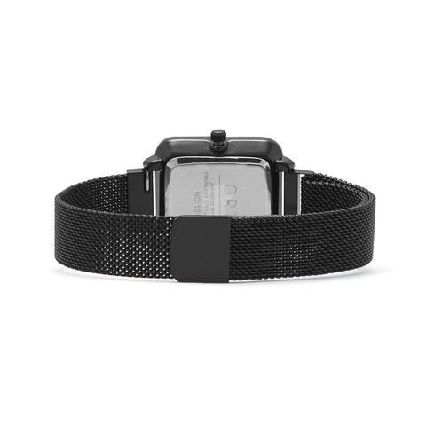 Black Mesh Magnetic Fashion Watch