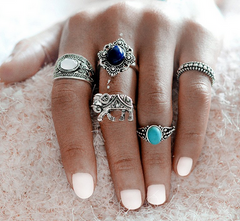 Bohemian Stackable Ring Set | Moonlight Gypsy
