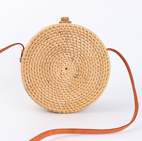 Straw Circle Cut Out Bali Bag-Handbag-Moonlight Gypsy