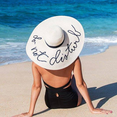 Do Not Disturb Straw Hat - Moonlight Gypsy