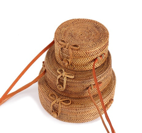 Straw Circle Bali Bag - Moonlight Gypsy
