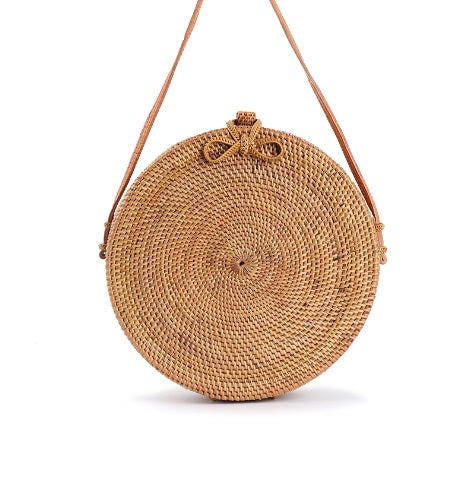 Straw Circle Bali Bag-Handbag-Moonlight Gypsy