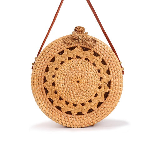 Straw Circle Cut Out Bali Bag - Moonlight Gypsy